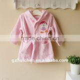 2011 autumn baby clothes 100% cotton embrooider baby bathrobe