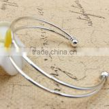 latest design daily wear bangle double wire screw bangle high polish zinc alloy bracelet bangle