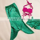 girls boutique mermaid tail swimming suits fish scale mermaid bathing suit wholesale swimming mermaid tail for kids
