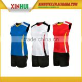 absolutely factory price OEM custom digital printing sleeveless volleyball jersey