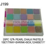 J199 20 PC 12% PEARL CHALK PASTELS