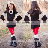 long sleeve with crochet new fashion latest tops for girls soft material latest design girls top