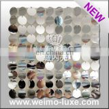 Flamboyant sequin panel for shopping mall decoration