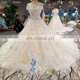 LS00284 cap sleeves vietnam bridal gown wedding dress back lace applique long train white lace wedding saree