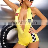 Beautys love V-shape front Spandex racing costume 1606