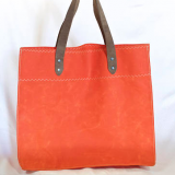 water resistang waxed canvas leather handles tote bag for shopping