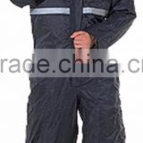 Waterproof Reflective taping Rain coat with quilted lined thermal and detachable hood Mens uniform workwear