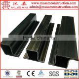 Cold rolled black annealed LTZ steel pipe profiles for windows frame