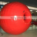 1.0mm TPU/PVC high quality red color inflatable zorb ball for inflatable zorb ball track