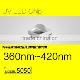 UVLED 3w 5050 SMD uv led chip 365nm with CE rohs FACTORY price