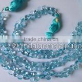 Top Grade AAA Sky Blue Topaz Faceted Heart Beads 7 To 8 MM