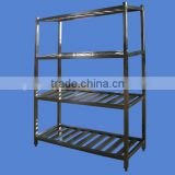 APEX custom make 4 layers square legs restaurant kitchen stainless steel shelves/kitchen utensil rack