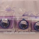 Aromatherapy type customized fragrance scented candles with glass jar