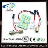 Roof 5630 24SMD Led Light Car 12V Led Festoon Lighting Car Roof Led Lights Led Panel Light