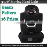 330W moving head light high brightness beam pattern stage high power moving dmx light 15R Sharpy spot gobo effect