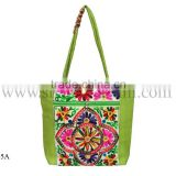Green embroidered tote handbags hobo hippie boho tribal sling bags for ladies in Wholesale price