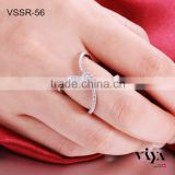 Newest Design Solid Sterling Silver Infinity Ring and High Quality Fashion 925 silver bridal rings,925 silver diamond ring                                                                         Quality Choice