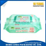 BPA Free Gravure Printing Baby Wet Wipe Plastic Lamination Bag/ Heat Sealing Wet Tissue Packaging Bag