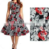 Women's cotton short frock designs rockabilly swing prom vintage dress 50s