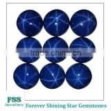 Lab Created Star Blue Sapphire Round Cabochon Cut #34 Synthetic Sapphire Corundum Stone 8mm*8mm
