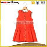 Special front floral embroidered corduroy bright baby girls birthday dresses                                                                                                         Supplier's Choice