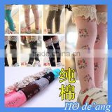 HOGIFT Wholesale children flower and lace stocking,Soft and Comfortable Cotton princess dress Stockings,Knee-high socks