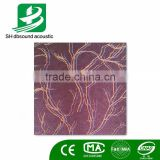 Nonwoven Felt flocking Polyester Fiber Decorative Acoustic Wall Panel