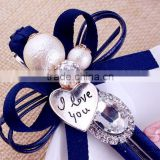 lovely korean magic hair bow crystal hair clip barrettes