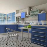 Blue Lacquer High Gloss Furniture For Kitchen DJ-K238