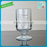 Top selling new product ice cream glass cup with embossed decal logo 240ml ice cream cup wholesale