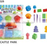 Educational 3d colorful play dough baby hand print kits clay dough ornaments castle park series