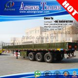 Hight quality military applications 3 axles bulk cargo transporting 50ton drop side trailer for sale