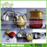 High quality square stainless steel hot pot/ Mini milk pot /designer stainless steel hot pot