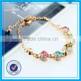 Good quality multicolor zircon stone real flower resin bangle