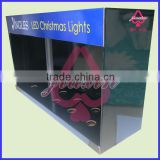 Paper cardboard display LED Christmas Lights hanging box with holes