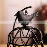 zakka Birdcage Iron Candle Holder Candlestick classical white circular hollow candlestick home crafts
