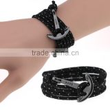 Wholesale Anchor Bracelets Nautical Rope Punk Bangles Wristbands