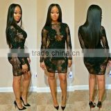 Marvelous Gorgeous Splendid and Posh black lace bandage dress, short dress, goddess short dress