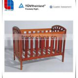 L&F 2 in 1 white or brown wood fixed side baby cot