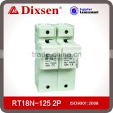 Low voltage Fuse Link& Fuse base RT18N-125-2P HRC electrical fuse types