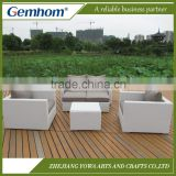 China factory white resin wicker outdoor furniture