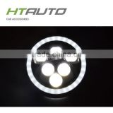 HTAUTO 7 inch 60W High Low Beam Headlight Projector Lens Light h7 Led with Blue and white Light Angel Eyes