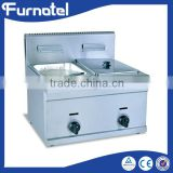 Hot Sale Gas kitchen equipments 2-Tank and 2-Basket Fryer industrial air fryer