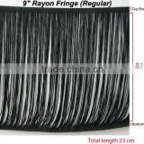"9"" Black Rayon Fringe For Fashion Dresses"