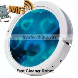 Newest WIFI smartphone App control wet and dry mopping robot small vacuum cleaner / vacuum cleaner parts and function