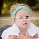 FD209 Candy color Headwear Baby Toddler Cute Girl Kids Bow Hairband Turban Knot Headband