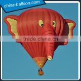 Creative cartoon model/elephant 3D manned air balloon for advertising show