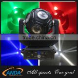 2016 High brightness 12pcs*12w RGBW 4in1 led football beam light /led dj disco ball light