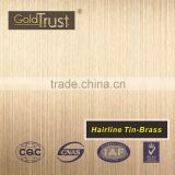 supply hairline ti-brass finish stainless steel sheets for elevator building decoration and wall panels