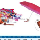 cheap promotional umbrella with logo wholesale china Small portable tiny umbrella UV 3 Folding Rain Umbrella pocket size